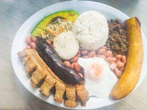 bandeja paisa, colombia, medellin, food